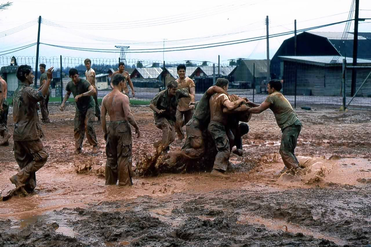 Retired Marine Lt. Col. Harold Walker of Geneva has fond memories of football games played in the red mud of his base in Phu Bai, Vietnam.