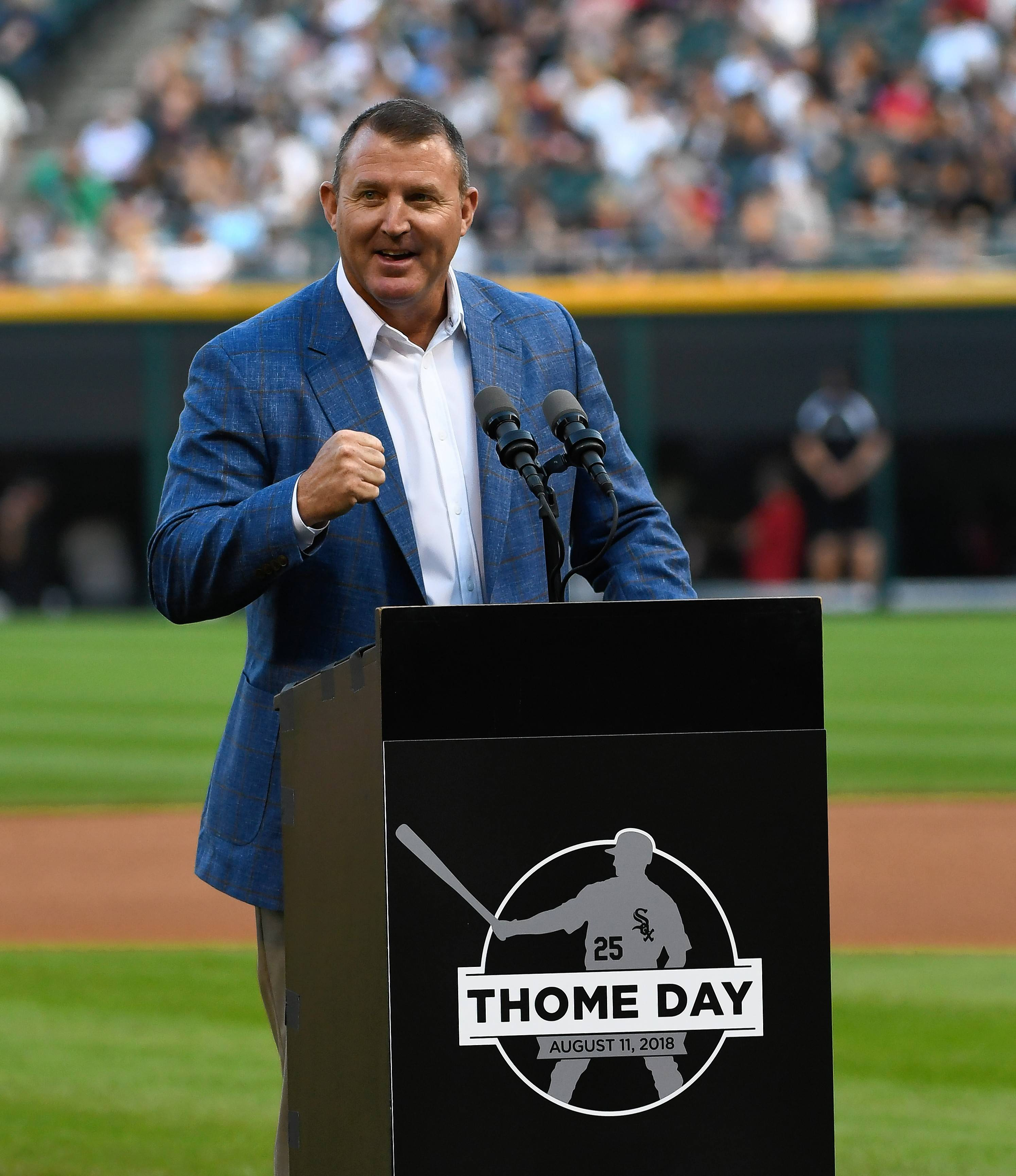 "New Hall of Famer Jim Thome, who played four seasons with the Chicago White Sox, said his journey to Cooperstown has had ""so many memorable, so many great things just along the way."""