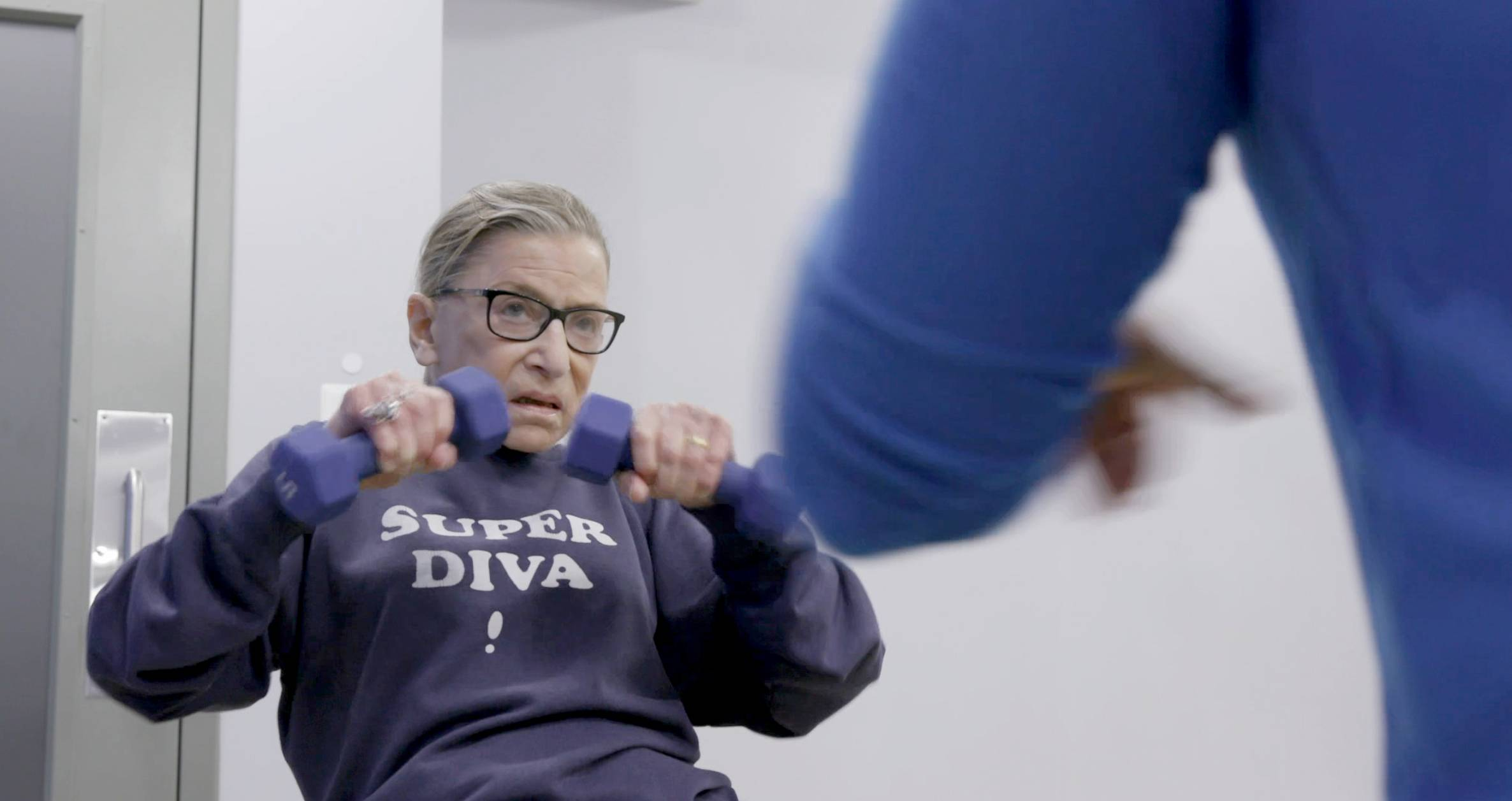 "A scene from ""RBG,"" a documentary about the life of Supreme Court Justice Ruth Bader Ginsburg."