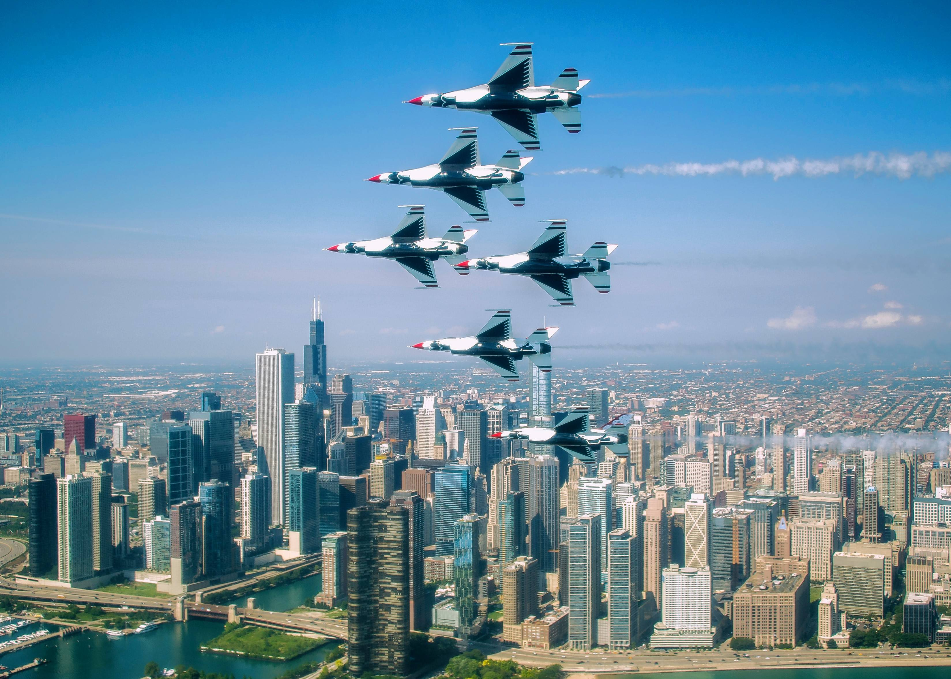 The U.S. Air Force Thunderbirds return to the Chicago Air and Water Show in 2018.