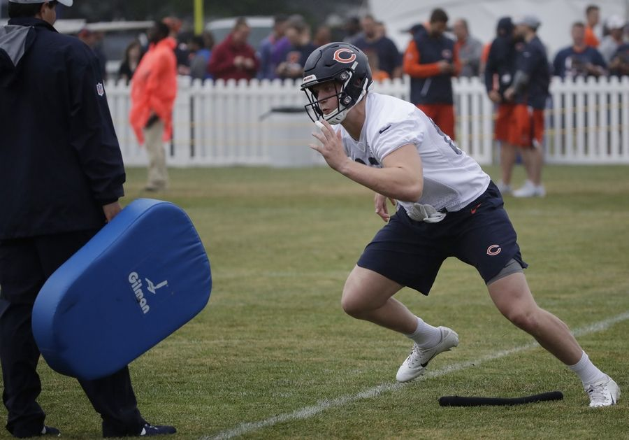 Injuries to Chicago Bears tight end Adam Shaheen, shown here during training camp, and outside linebacker Leonard Floyd (not pictured) could have been much worse than reported. But that doesn't mean either player will have a green light to play soon.