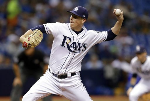 Tampa Bay Rays pitcher Ryan Yarbrough delivers to the Kansas City Royals during the third inning of a baseball game Monday, Aug. 20, 2018, in St. Petersburg, Fla.