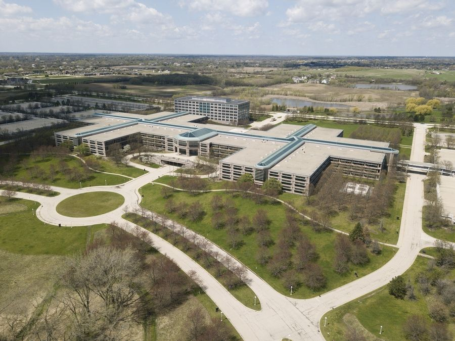 Hoffman Estates officials Monday rezoned the 150-acre former AT&T campus to enable its redevelopment as a mixed-use community called City Works and facilitate the developer's purchase of the land.