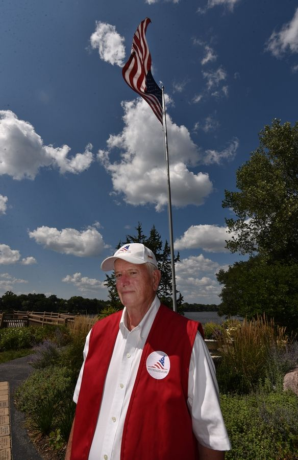 "Tom Gilder is president of Veterans of Lake Barrington Shores, which aims to foster patriotism and support organizations that help veterans. ""We look at it as a responsibility,"" said Gilder, who served in Vietnam."