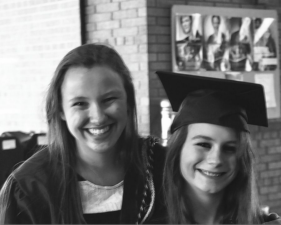 A walk will be held Sunday to remember Rebecca Soderman of Lake Barrington, at right wearing a graduation cap belonging to her older sister next to her, Charlotte. She donned the cap on her sister's college graduation day. Rebecca, 18, was a Barrington High School student when she died in a car crash in March 2017. The walk will be at Citizens Park in Barrington.