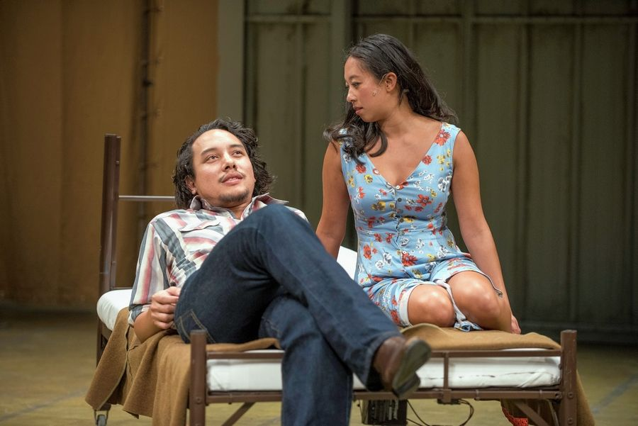 "Matthew C. Yee and Aurora Adachi-Winter play Vietnamese refugees who fall in love in Qui Nguyen's ""Vietgone"" at Writers Theatre."