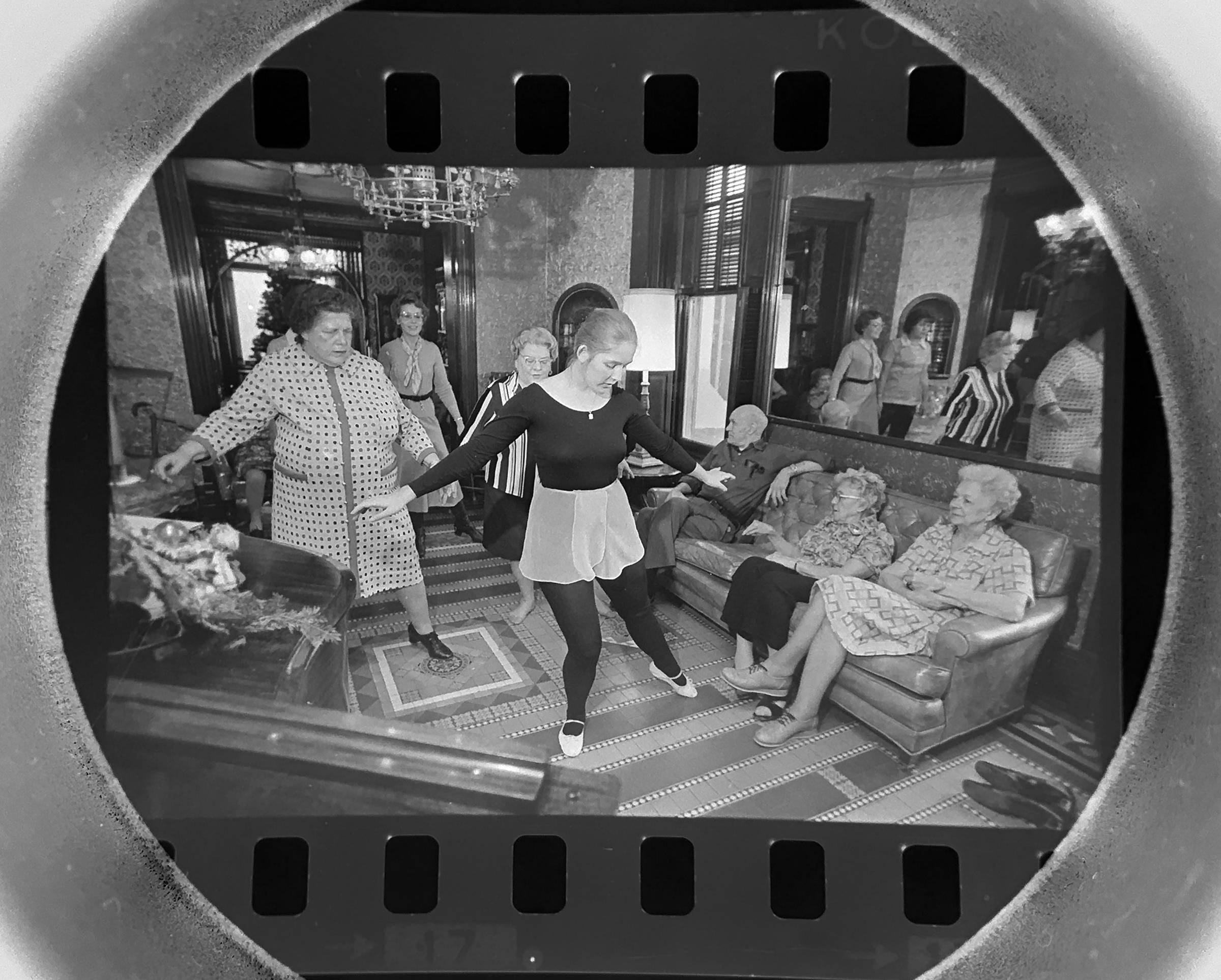 The Daily Herald archive, Assignment # 48,901, Dave Tonge photo: Dance instructors teach disco dancing to residents of the Bowes Nursing Home in Elk Grove Village in December of 1978.