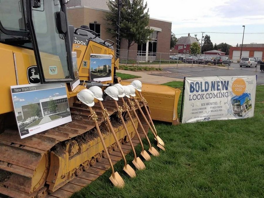 A groundbreaking was held Tuesday night for a two-story, 53,975-square-foot addition to the Olympic Indoor Swim Center in Arlington Heights.