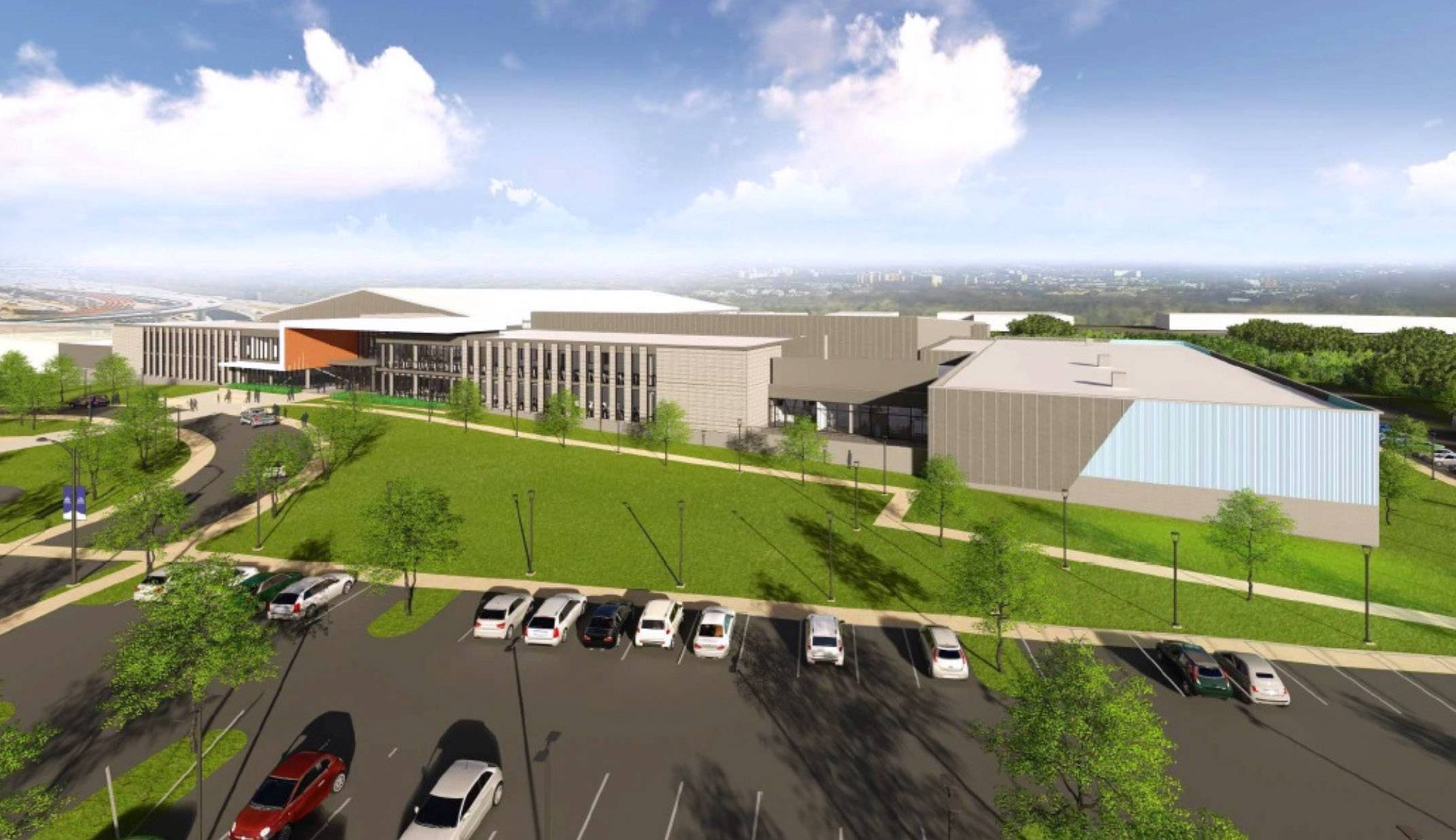 A sprawling athletic center has been proposed for land that's now an office complex in Lincolnshire.