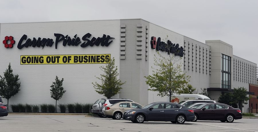 The sign says it all on the last day for the Carson's Pirie Scott store at Randhurst Mall in Mount Prospect.