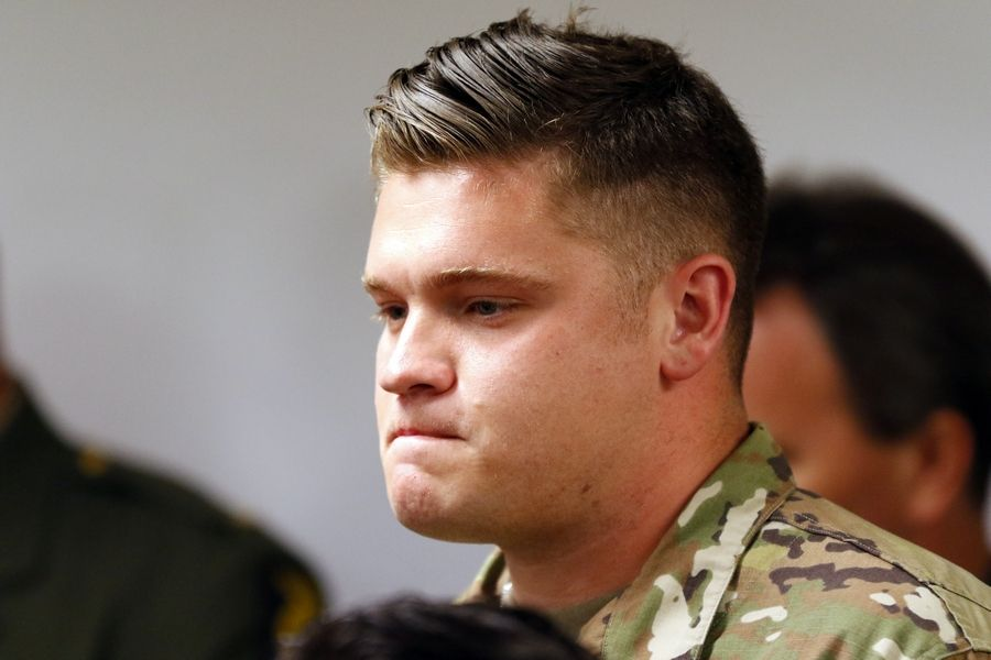 Illinois Army National Guard Cpl. Nathan Jennings of Machesney Park says he was among those who got into the water of a Huntley retention pond to help save a driver whose vehicle had left a tollway ramp and overturned into the pond.