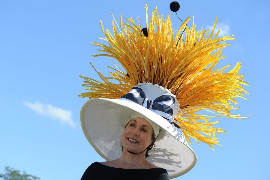 A ladies' hat competition is part of the fun at the LeCompte Kalaway Trailowners Cup Polo matches in Barrington Hills.