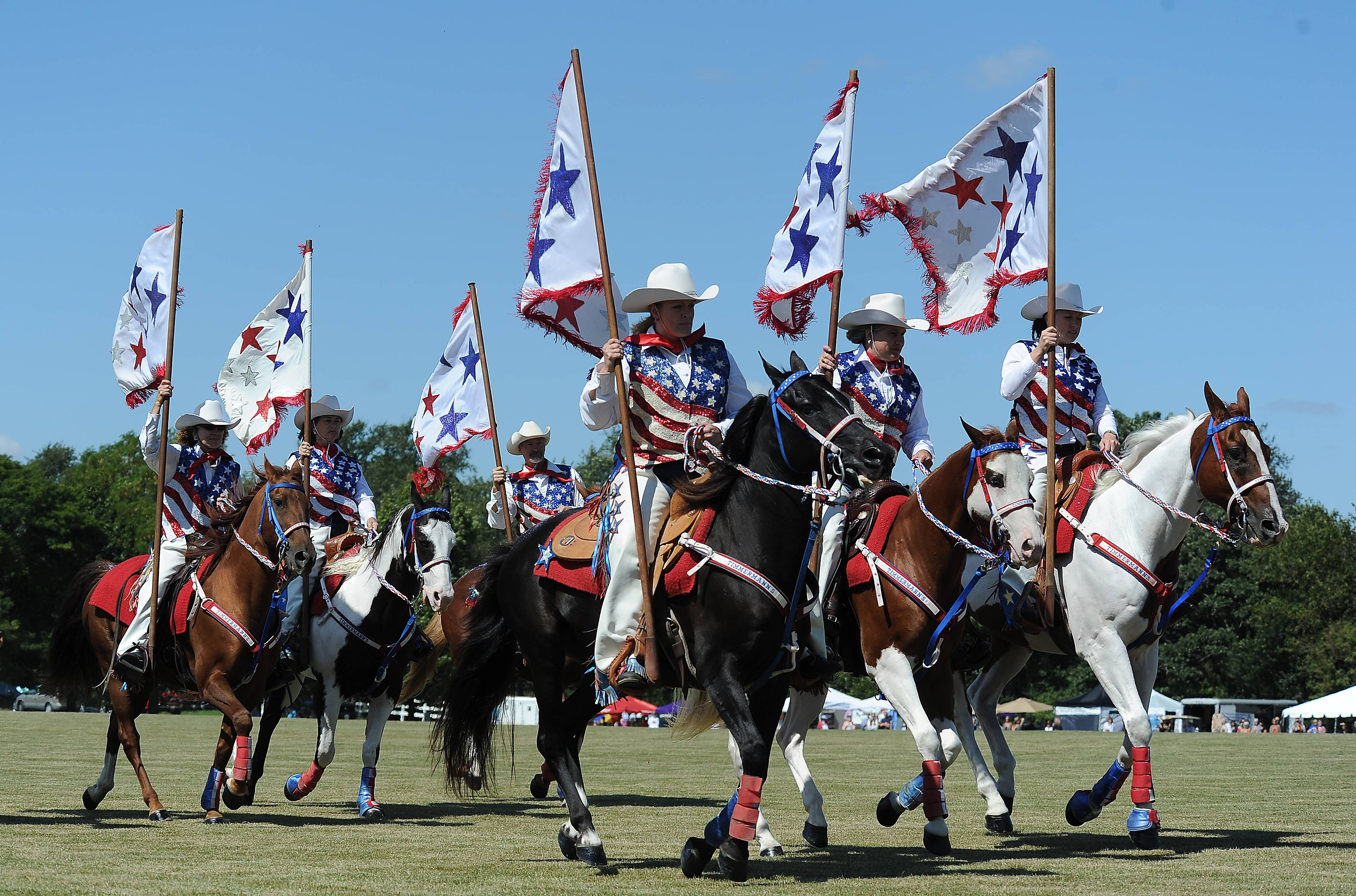 The Timmerman Mounted Drill Team will perform at the LeCompte Kalaway Trailowners Cup Polo Event in Barrington Hills.
