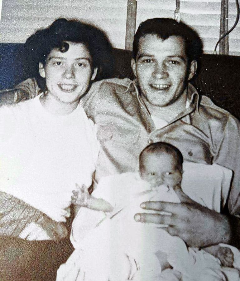 "A happy family for a week after the birth of their daughter Shirley, who now lives in Wauconda, Richard ""Al"" Sheredy left his girlfriend, Mary, in 1954. Both went on to marry others and raise families."