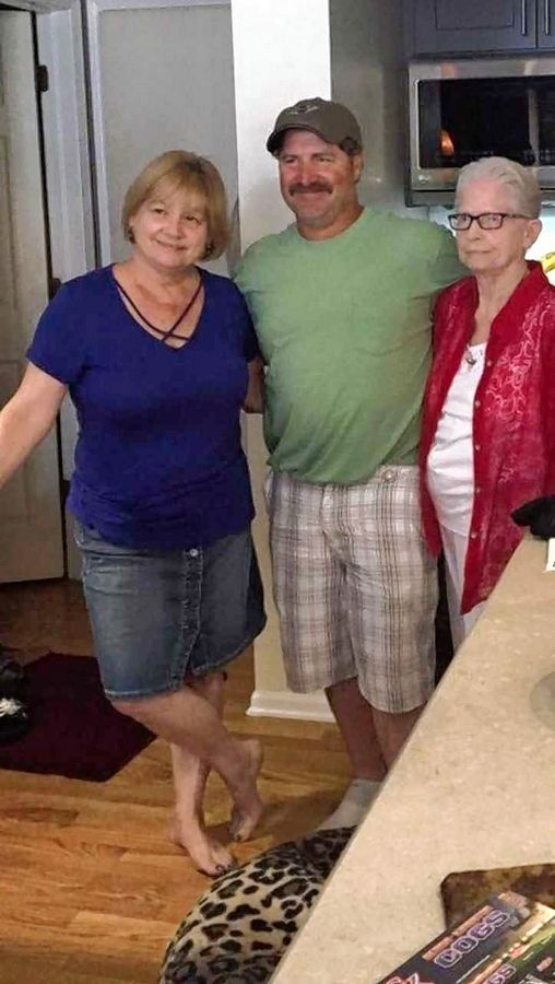 It took six decades, but Shirley Wojcicki, left, of Wauconda, now has a relationship with her younger half-brother, Mike Sheredy, center. Wojcicki's mother, Mary Havell, right, says she holds no grudge against the father, Al Sheredy. who went back to Pennsylvania a week after Wojcicki's birth.