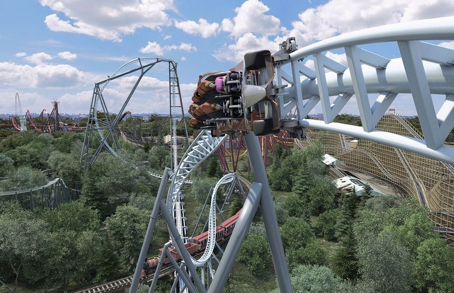 Six Flags Great America in Gurnee will debut new racing-themed roller coaster next year called Maxx Force.