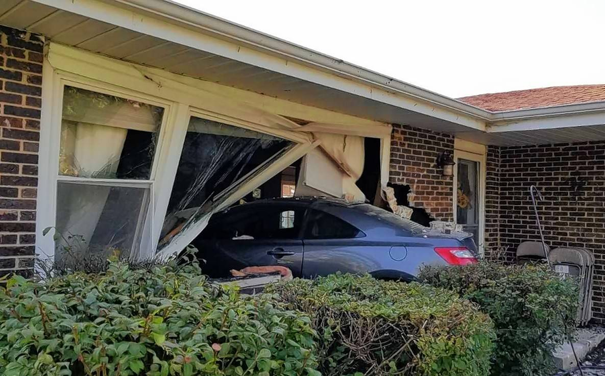 Police ticketed an 18-year-old Carol Stream man Thursday morning after his car crashed into a home in the 900 block of Valewood Drive in Bartlett. No one was injured in the crash.