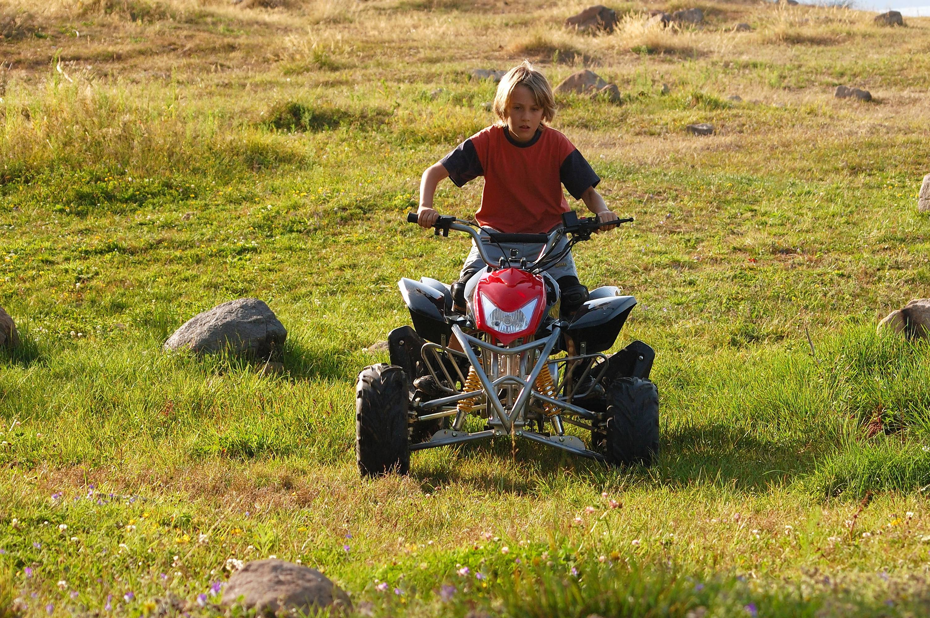 The American Academy of Pediatrics warns that children under 16 should not use ATVs.