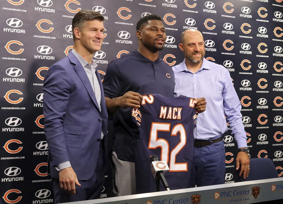 wholesale dealer ecec5 ac6a9 Chicago Bears couldn't be any happier about getting Mack