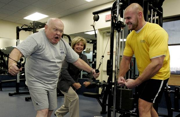 George Pradel was a huge fan of anything connected with Edward Hospital, including its fitness facility.