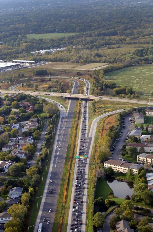 This is Route 53 looking north toward its end at Lake-Cook Road near Palatine and Long Grove. Some Long Grove trustees are hoping to spur residents into helping fight a proposed extension of Route 53 north of Lake-Cook Road, which they say won't benefit the village.
