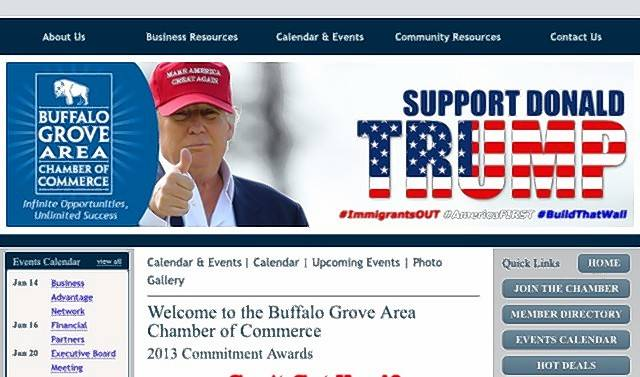 "This is a fake website causing confusion with the real Buffalo Grove Lincolnshire Chamber of Commerce site. Chamber officials call the bogus site ""a huge concern"" and are trying to shut it down."