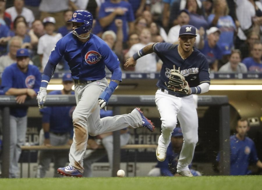 low priced 180b5 2d6ea Chicago Cubs get important win over Brewers