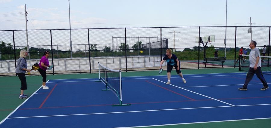 Naperville Park District first introduced pickleball on one of the tennis courts at DuPage River Sports Complex. On Saturday, Sept. 22, the park district invites you to check out the four new pickleball courts at the Nike Sports Complex.