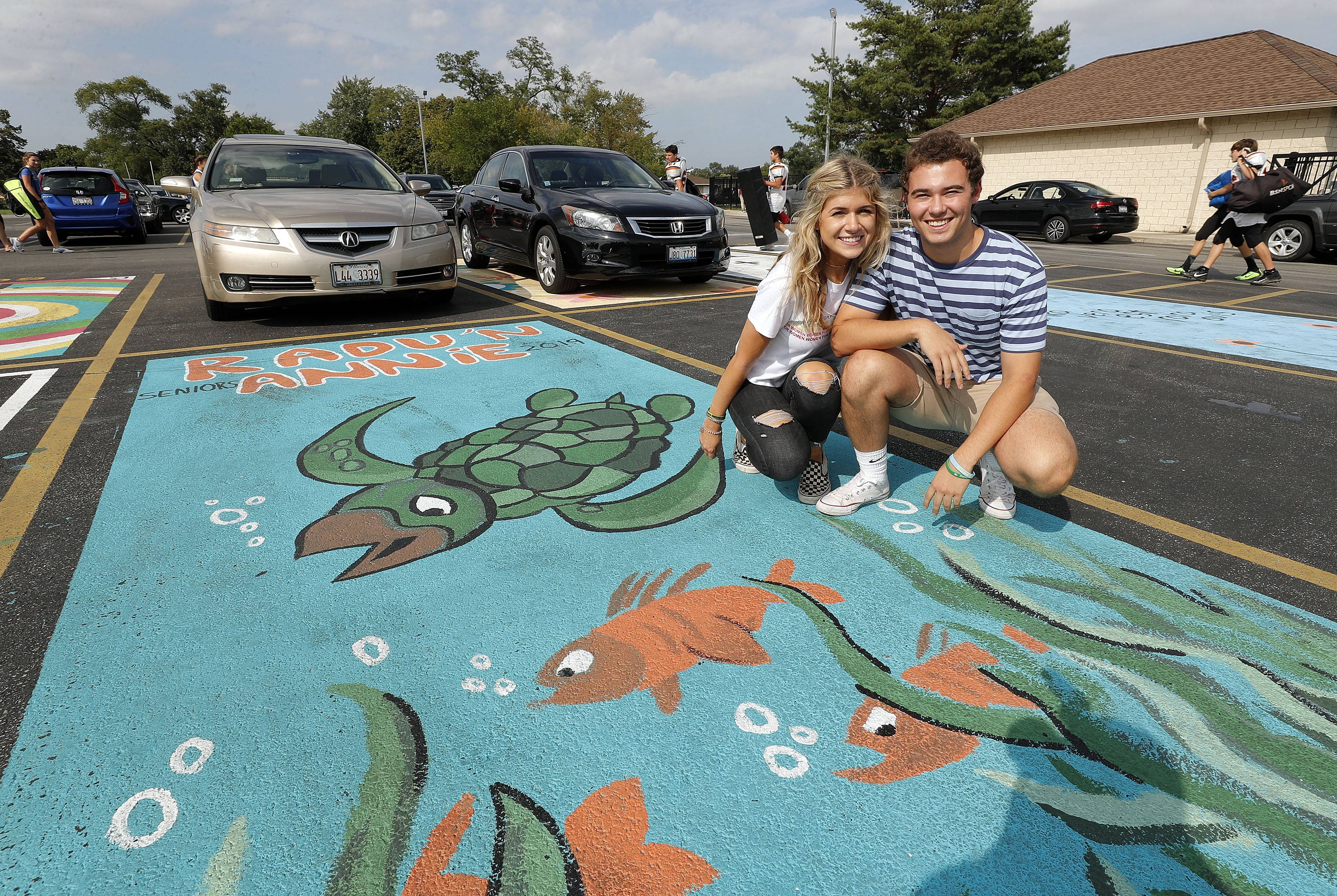 Why some Libertyville High seniors are decorating their parking spots
