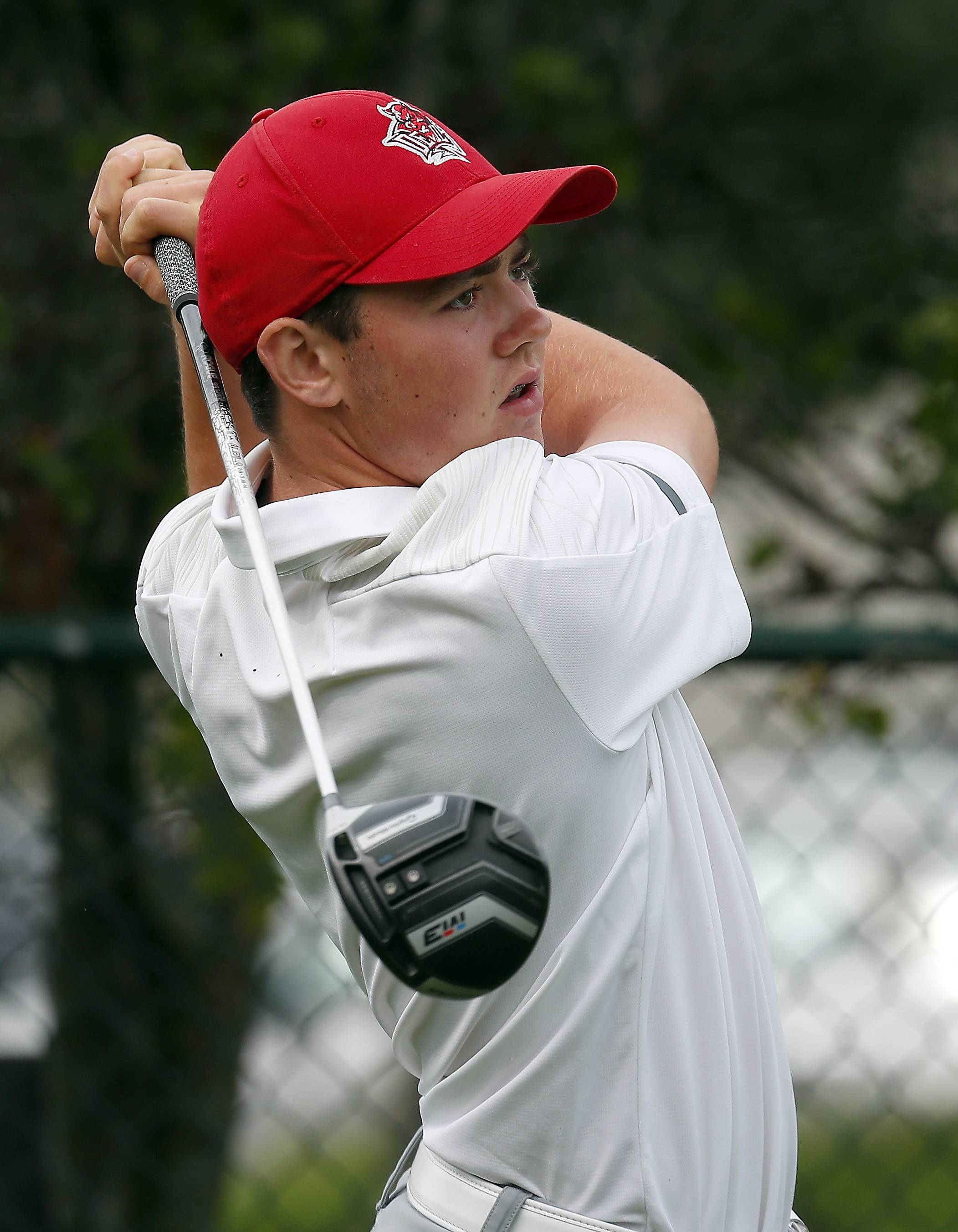 Hinsdale Central's Mac McClure Saturday during golf at Pheasant Run Golf Course in St. Charles.