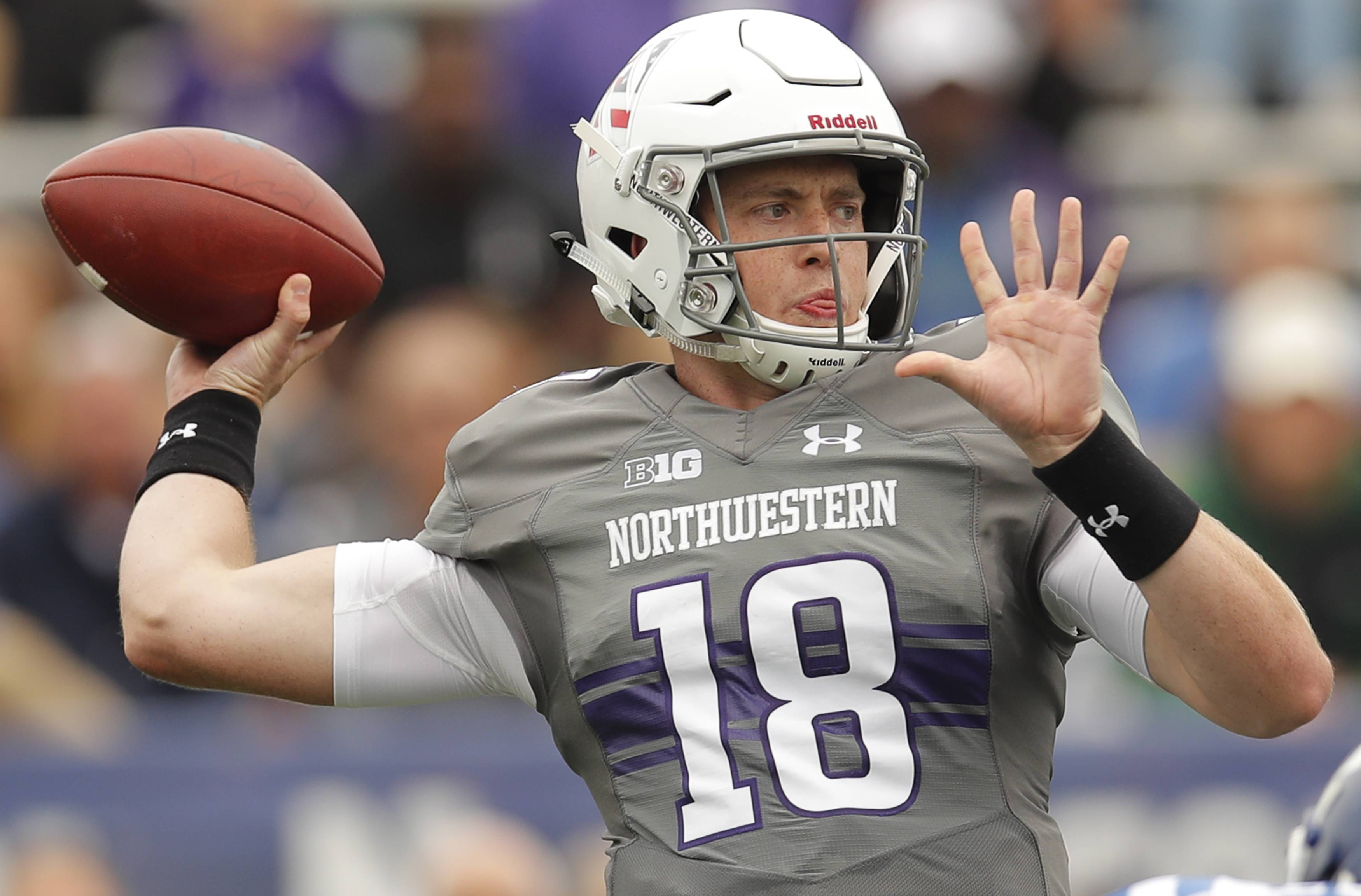 Jones throws for 3 TDs, Duke beats Northwestern 21-7