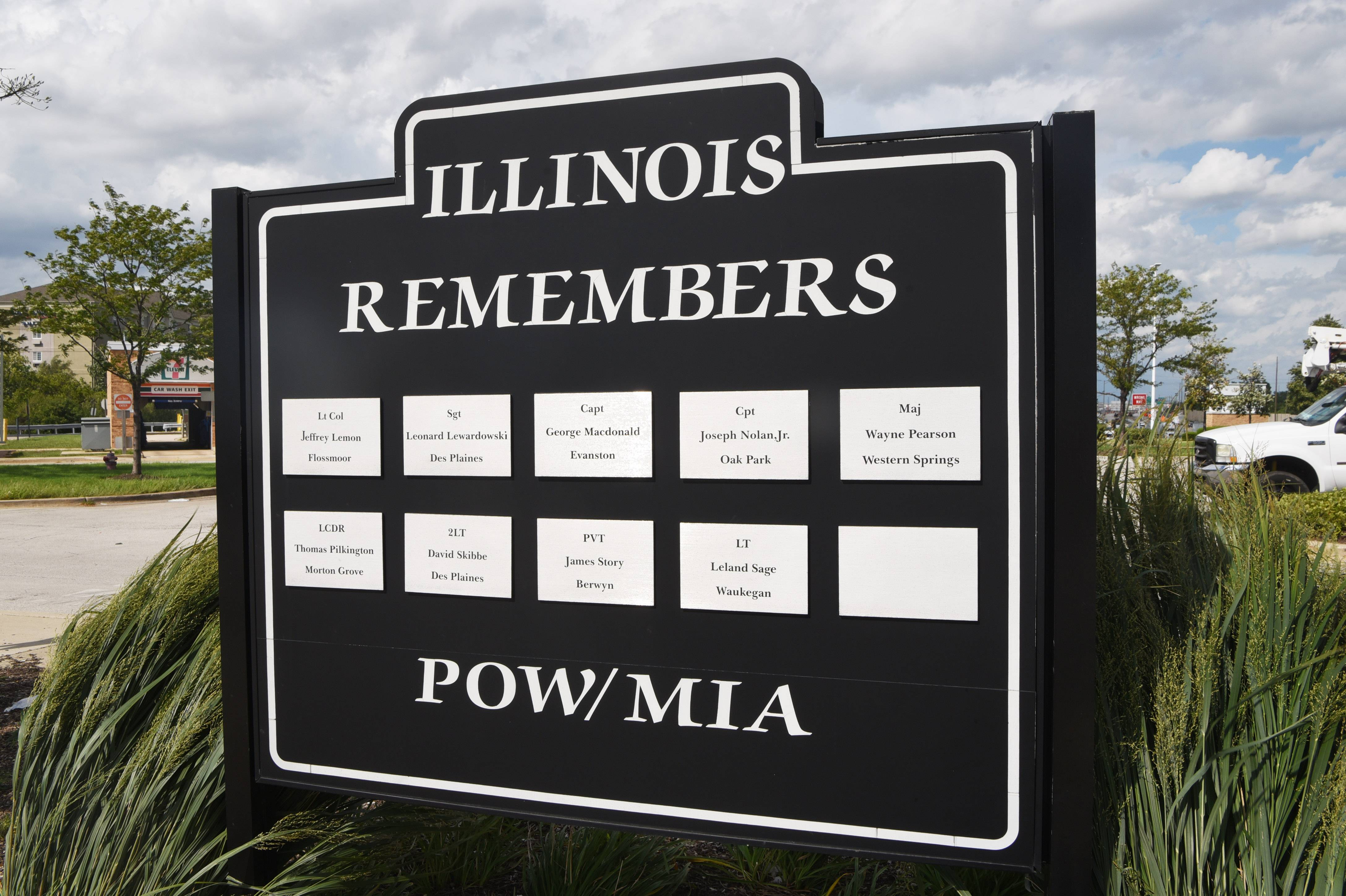 A monument dedicated to troops missing in action from the Vietnam War and World War II will remain at the O'Hare oasis after the glass pavilion is demolished to make way for new lanes on the Tri-State Tollway. It will be fenced off and protected during construction, officials said.