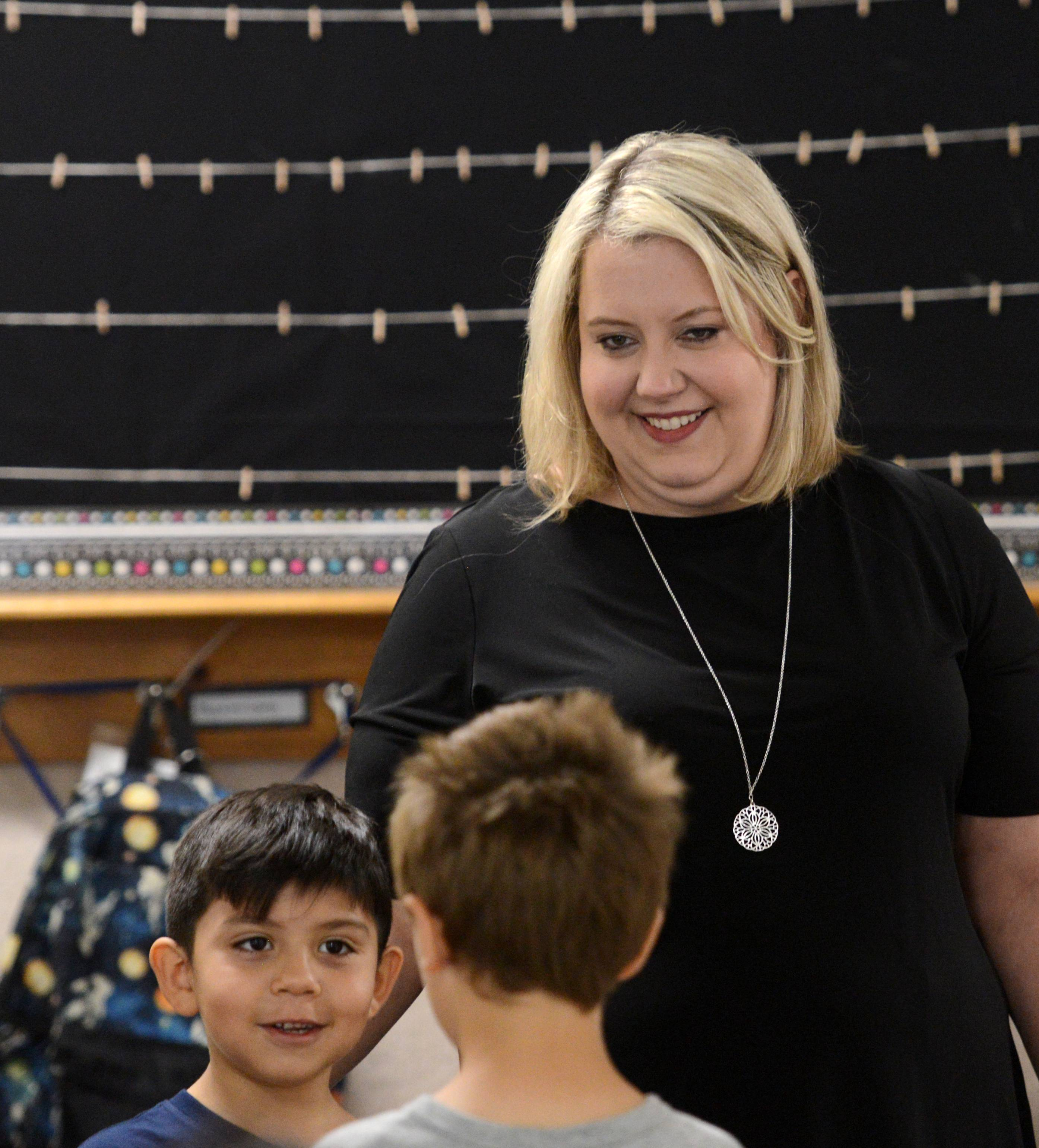 Sara Magnafichi, a first-grade teacher at Admiral Byrd Elementary School in Elk Grove Township Elementary District 59, is a top 10 finalist for Illinois Teacher of the Year.