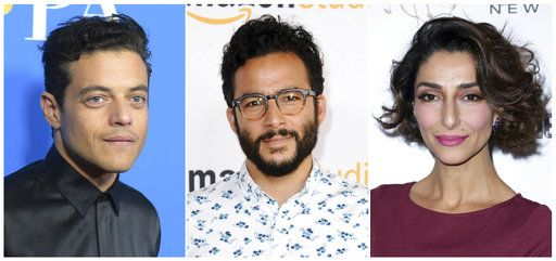 "This combination photo shows, from left, Egyptian-American actor Rami Malek, who stars on ""Mr. Robot,� Turkish-American actor Ennis Esmer, who stars in ""Red Oaks,"" and Iranian-American actress Necar Zadegan, who stars in ""Girlfriend's Guide to Divorce."" A new study says actors of Middle Eastern and North African descent are either ignored on TV or stereotyped. Malek, Esmer and Zadegan were described as ""exemplary� in the report."