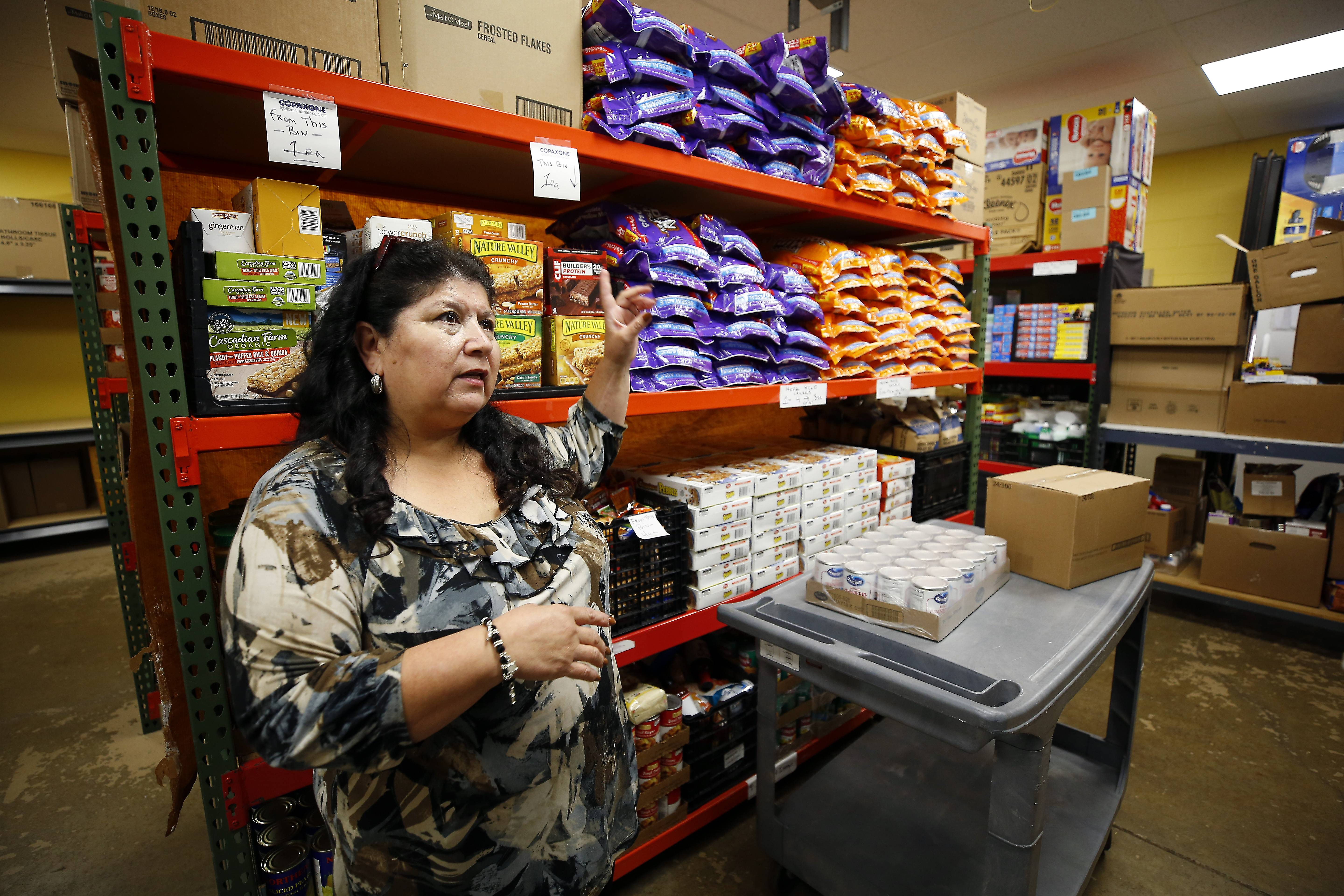 The Wayne Township food pantry is looking to expand with a 2,433-square-foot addition. Juanita Martinez is the director of the pantry and the township's general assistance office.