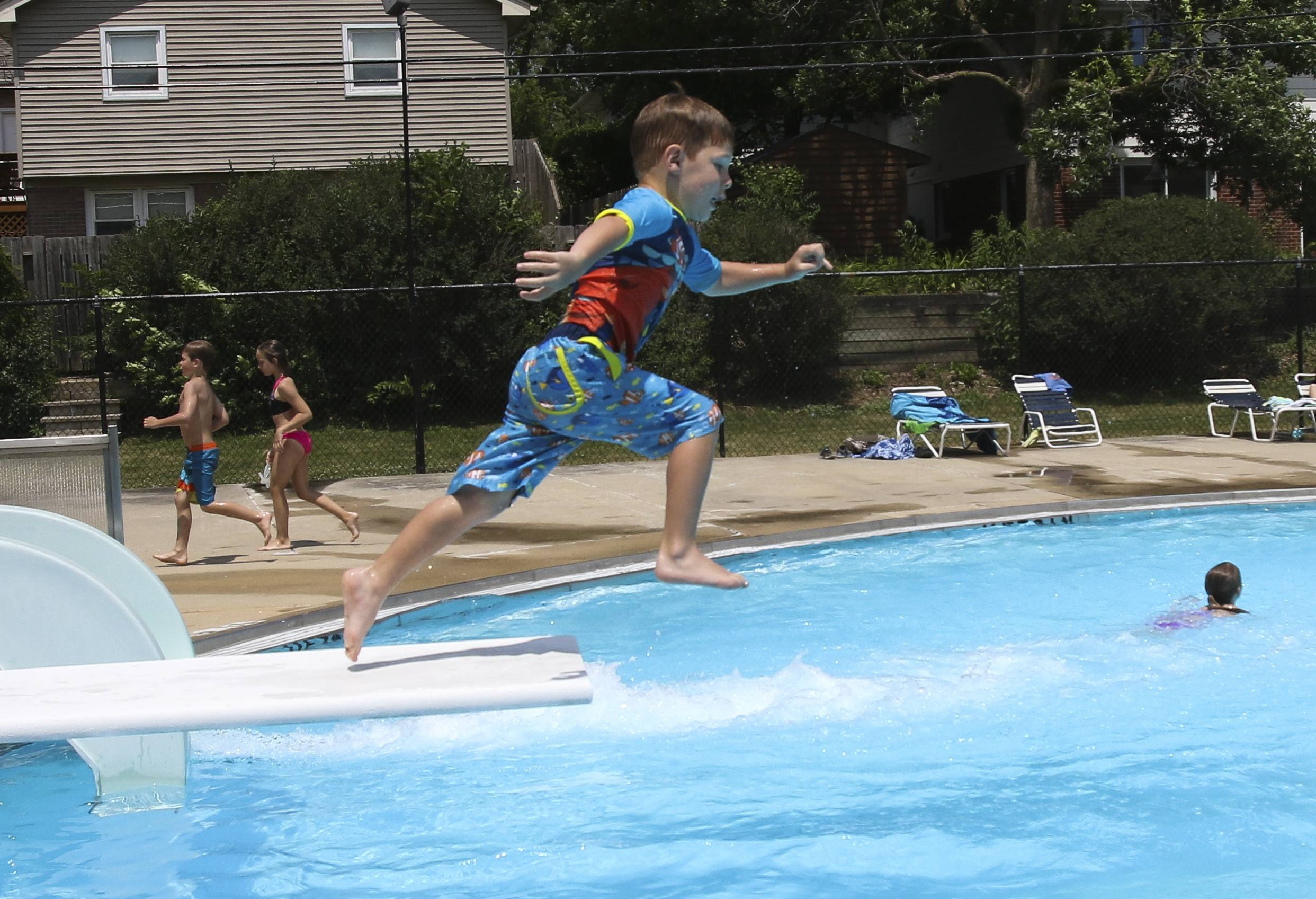 There were no summer swimming moments like this one this year at Lufkin Pool in Villa Park, which was idled when the village board decided in February not to spend $200,000 on basic repairs that could have allowed it to remain open.