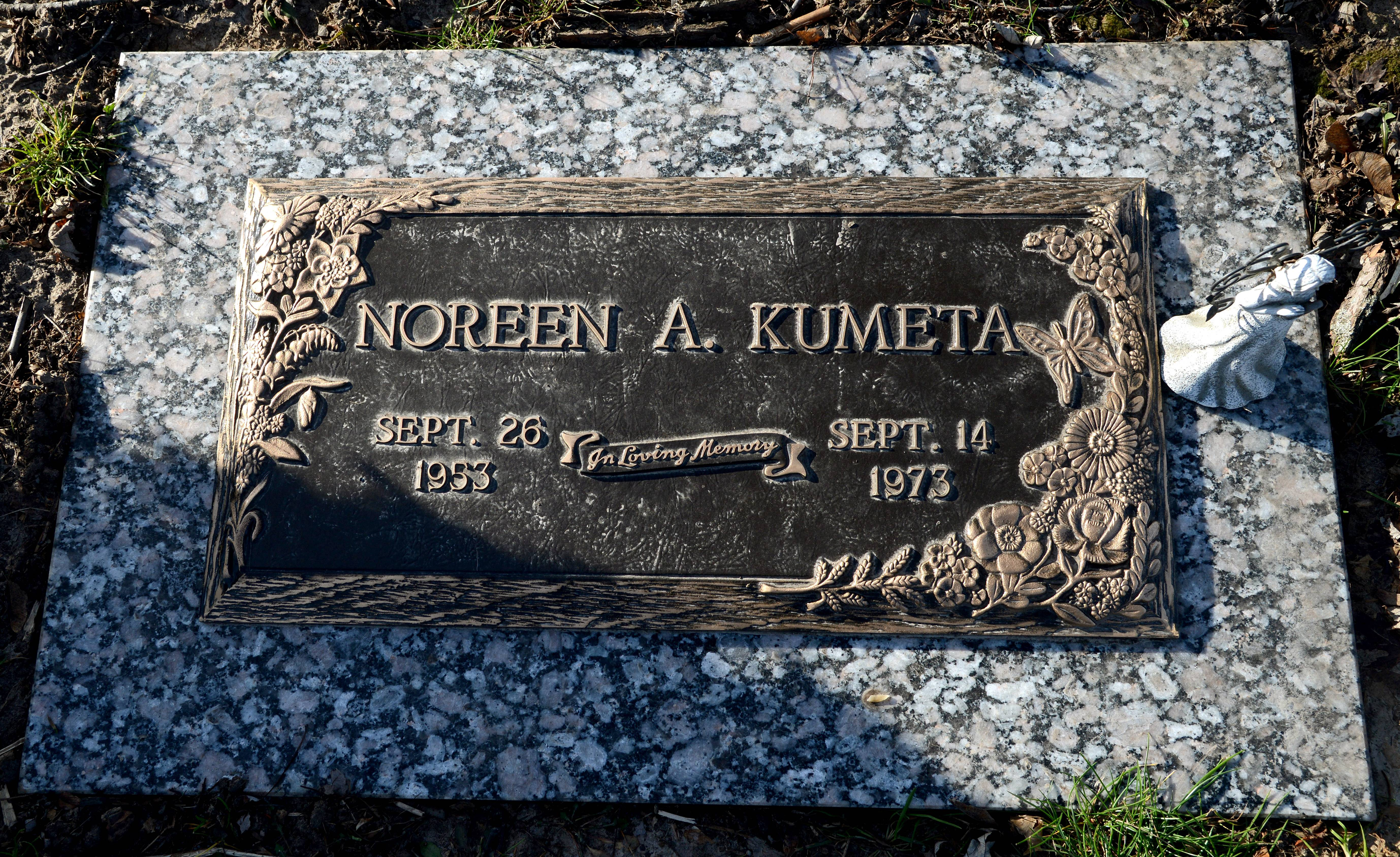 Noreen A. Kumeta Rudd was buried at the Dundee Township Cemetery East after her 1973 death.