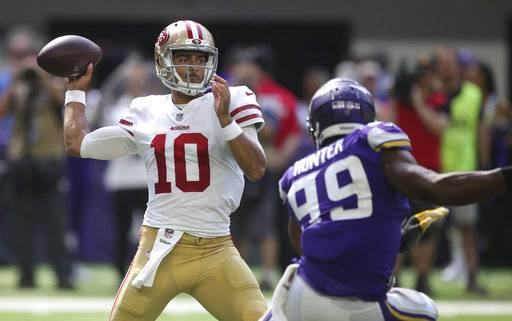 garoppolo faces old friend patricia when 49ers host lions