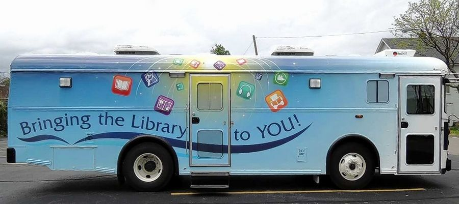 "The Gail Borden Public Library plans to purchase this 2014 ""gently used"" bookmobile from a library in Ohio. The library board approved the $155,000 purchase Tuesday night."