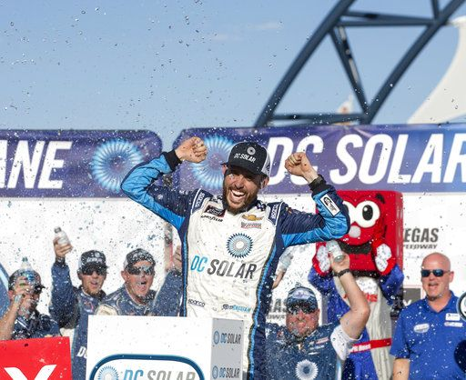 Ross Chastain earns 1st Xfinity win, holding off Allgaier