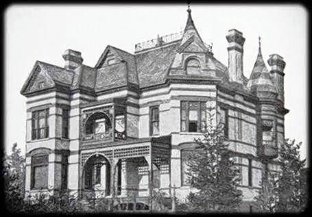 This photo shows the original David C. Cook Mansion that was built in 1885 in Elgin.