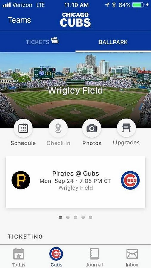 The traditional paper tickets won't be printed for postseason Cubs games at Wrigley Field, so you'll need this MLB Ballpark app.