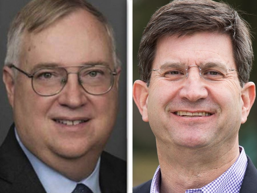 Douglas Bennett, left, and Brad Schneider, right, are candidates for the Illinois' 10th Congressional District seat.
