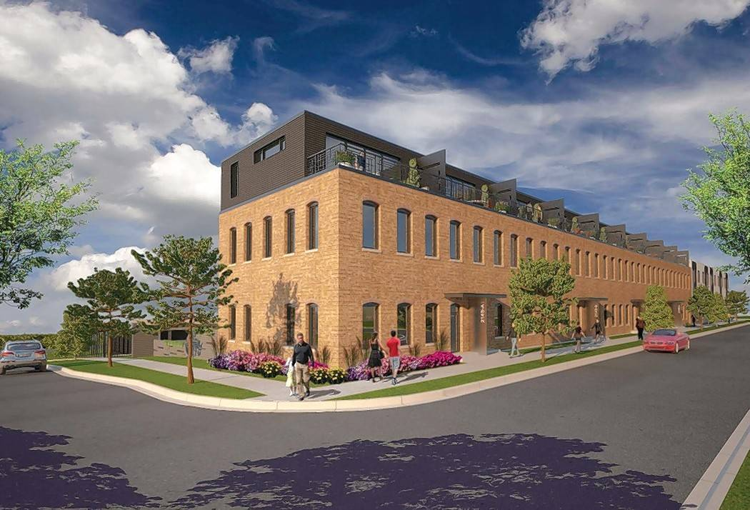 Architect Jeffrey Funke and his development team plan to expand and convert a former industrial building at 214 S. 13th Ave. into 14 townhouses in St. Charles.