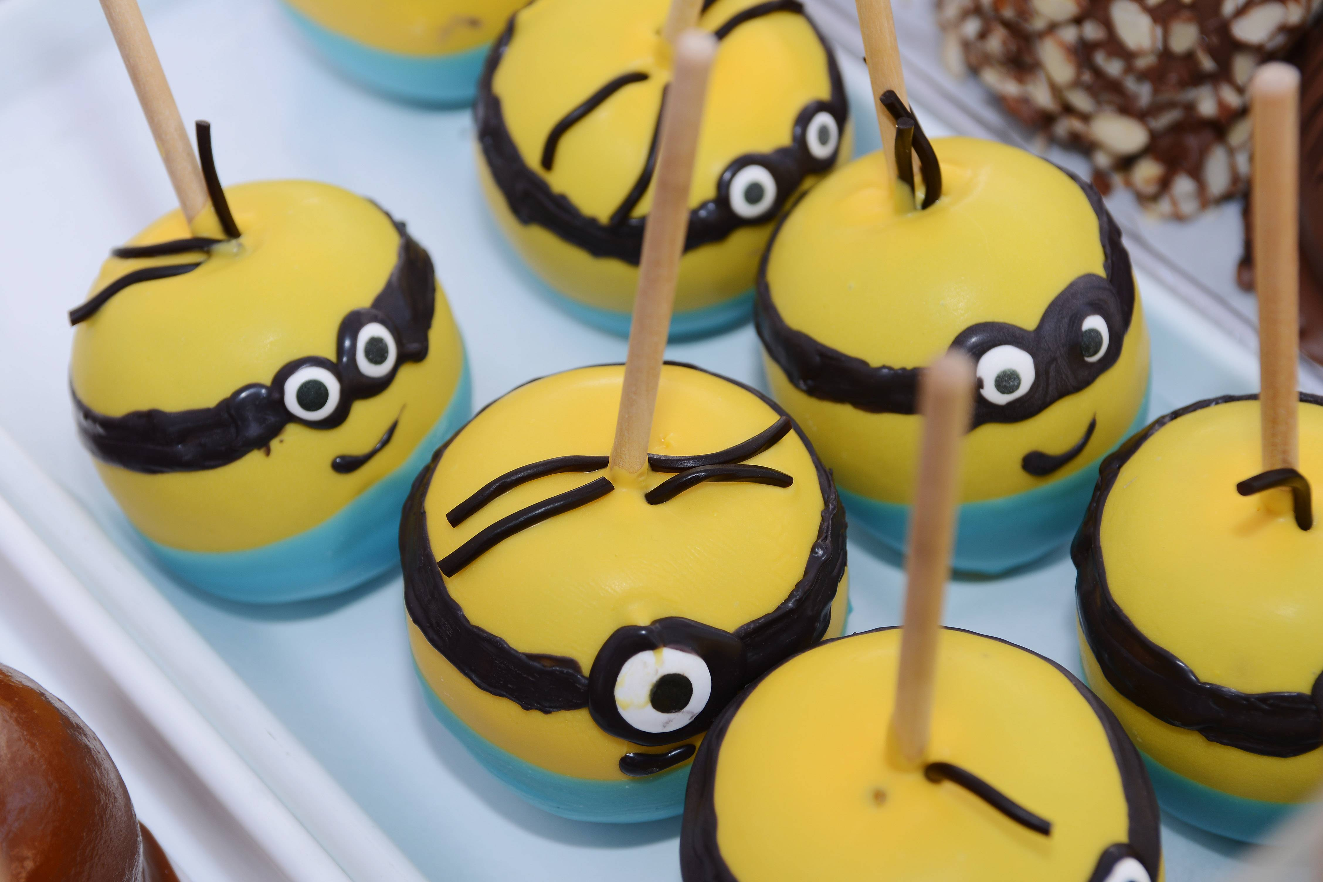"""Minion"" coated apples were on sale at a previous Long Grove Apple Fest."