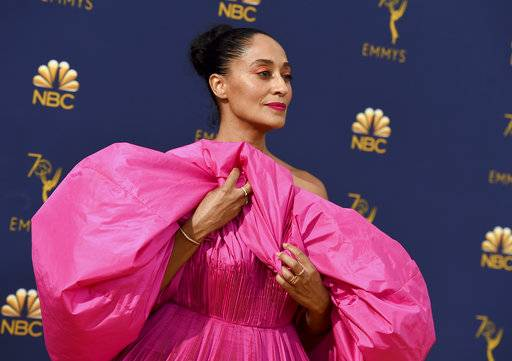 Tracee Ellis Ross arrives at the 70th Primetime Emmy Awards on Monday, Sept. 17, at the Microsoft Theater in Los Angeles.