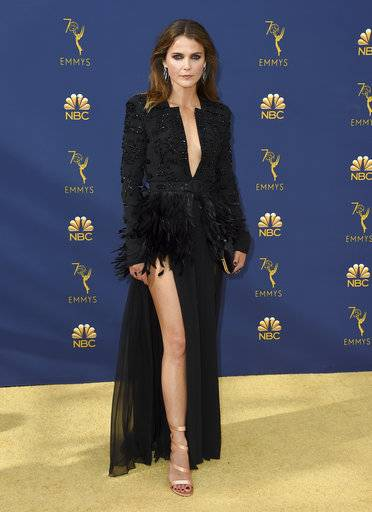 Keri Russell arrives at the 70th Primetime Emmy Awards on Monday, Sept. 17, 2018, at the Microsoft Theater in Los Angeles. (Photo by Jordan Strauss/Invision/AP)