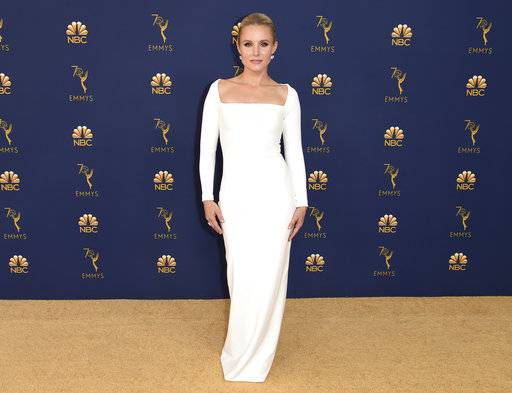 Kristen Bell arrives at the 70th Primetime Emmy Awards on Monday, Sept. 17, 2018, at the Microsoft Theater in Los Angeles. (Photo by Richard Shotwell/Invision/AP)