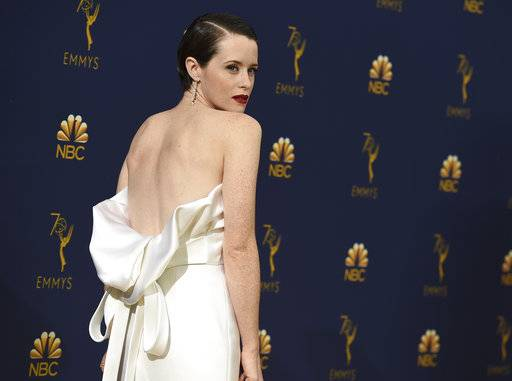 Claire Foy arrives at the 70th Primetime Emmy Awards on Monday, Sept. 17, 2018, at the Microsoft Theater in Los Angeles. (Photo by Jordan Strauss/Invision/AP)