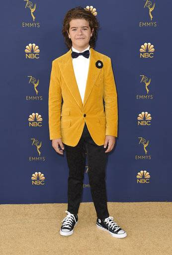 Gaten Matarazzo arrives at the 70th Primetime Emmy Awards on Monday, Sept. 17, 2018, at the Microsoft Theater in Los Angeles. (Photo by Richard Shotwell/Invision/AP)